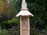 Rzeźba ludowa - Kapliczka ze św. Nepomucenem, wys. 140 cm