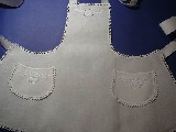 Apron with white embroidery white (k-7)