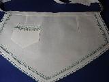 Fartuszek trójkątny haftowany haft kurpiowski, zielony (kś-12)