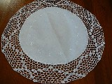 Tablemat with lace 39 cm in diameter (14)