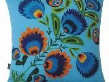 Poduszka dekoracyjna folk niebieski