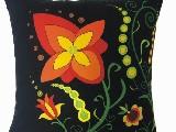 Poduszka ozdobna folk kwiaty