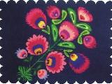 Podkładka dekoracyjna folk fiolet