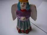 Angel - ceramic statuette, h. 17 cm