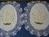 Serwetki haftowane z koronką  wielkanocne - kpl. 6 szt. (kś-1)
