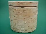 Pojemnik drewniany z przykrywką przesuwaną (kora)
