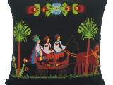 Poduszka ozdobna folk zaprzęg (022)