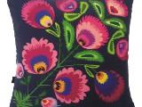 Decorated pillow folk flower (023)