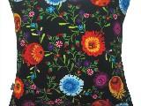 Poduszka ozdobna folk kwiaty (027)