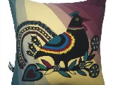Poduszka ozdobna folk ptak (029)
