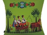 Poduszka dekoracyjna folk zaprzęg (021)