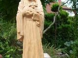 Rzeźba ludowa - Jezus Pasterz, wys. 52 cm