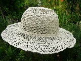 Lace hat beige