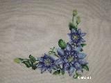 Bieżnik haftowany gałązki kwiatowe 110x70 cm