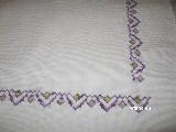 Bieżnik - liliowy szlaczek 110x65 cm