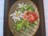 Obraz haftowany dzika róża