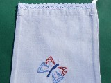Embroidered Pouch with butterfly (gś-13)