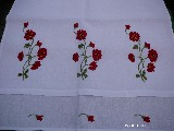 Embroidered towel Flowers