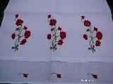 Ręcznik haftowany Kwiaty