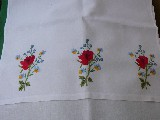 Embroidered towel - Bouquet of flowers