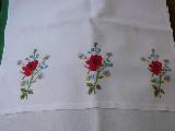 Ręcznik haftowany Bukiet kwiatów
