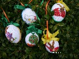 Embroidered Easter Egg (1) set of 5 pieces