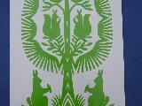 Wycinanka ludowa, kurpiowska - leluja, drzewko szczęścia, wys. 20 cm (jg-5)