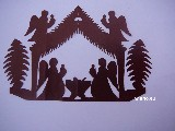 Cut-out. Nativity scene (czk-30)