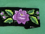 Bransoletka łowicka - róża fioletowa (zcz-2)