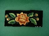 Bransoletka łowicka - róża żółto-brązowa (zcz-3)