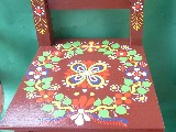 Folk chair for children brown