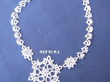Wedding necklace with with beads of tatting (lb-2)