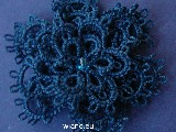 Brooch with tatting width of about 5 cm (lb-6)