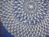 Tablemat in dia. 65 cm, hand made, dia in 65 cm, ecru (bd-6)
