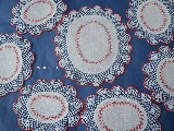 Embroidered tablemat decorated with cotton lace set of 6. (jg-12)