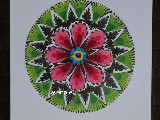 Wycinanka ludowa, łowicka - Ażur kwiat łowicki 10 cm (ww-48)