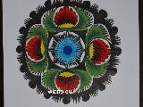 Wycinanka ludowa, łowicka - Ażur kwiat łowicki 10 cm (ww-49)