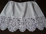 Cotton apron with hand made lace (jg-1)