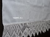 Linen curtain with lace 180x68 cm (gs)