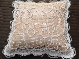 Poszewka na poduszkę - koronka siatkowa 40x40