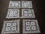Tablemat with a lace mesh 25x25 cm - set of 6