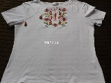 Cotton jersey folk white T-shirt XL (4)