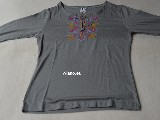 Cotton jersey folk gray T-shirt (8)