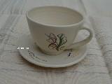 Garncarstwo - Ceramika bolimowska - filiżanka do kawy ze spodkiem