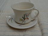Ceramics coffee cup and saucer (dk-2)