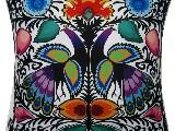 Poduszka dekoracyjna folk pawie łowickie 40x40 (032)