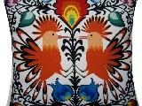 Poduszka dekoracyjna folk dwa ptaki 20x20 (033)