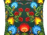 Poduszka dekoracyjna folk, kwiaty łowickie 40x40 (036)