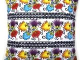 Poduszka dekoracyjna folk łowickie kwiaty 50x50 (038)