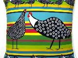 Poduszka dekoracyjna folk dwie kurki 50x50 (040)